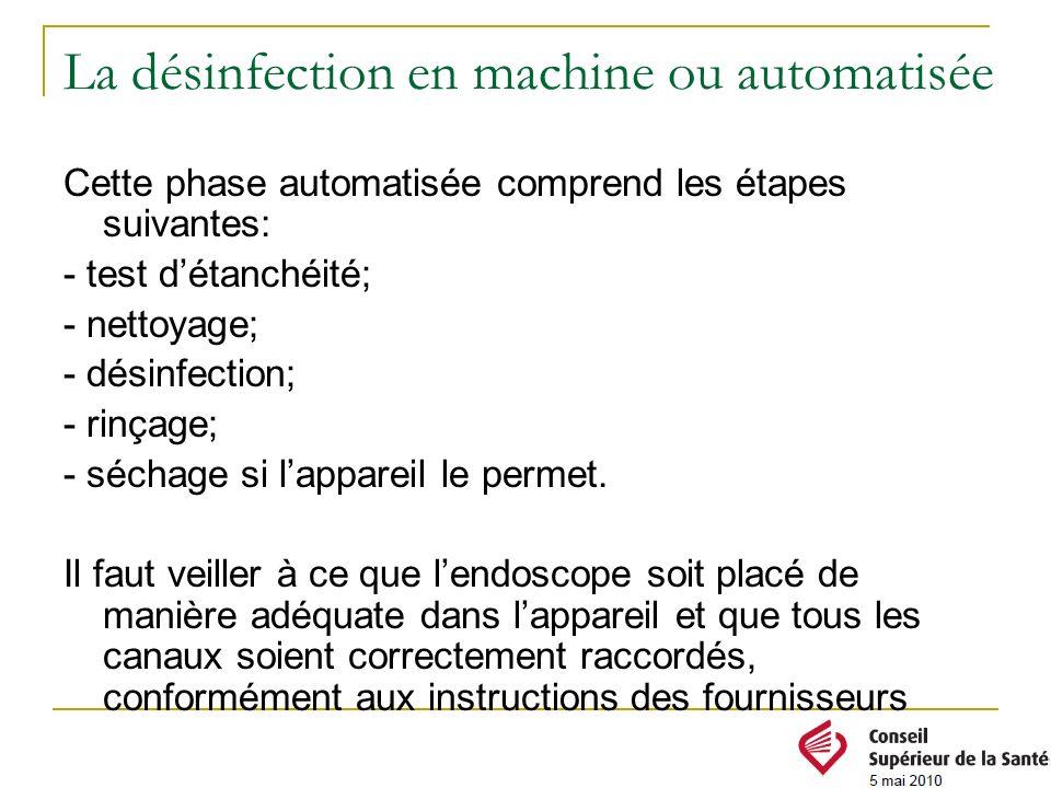 La désinfection en machine ou automatisée