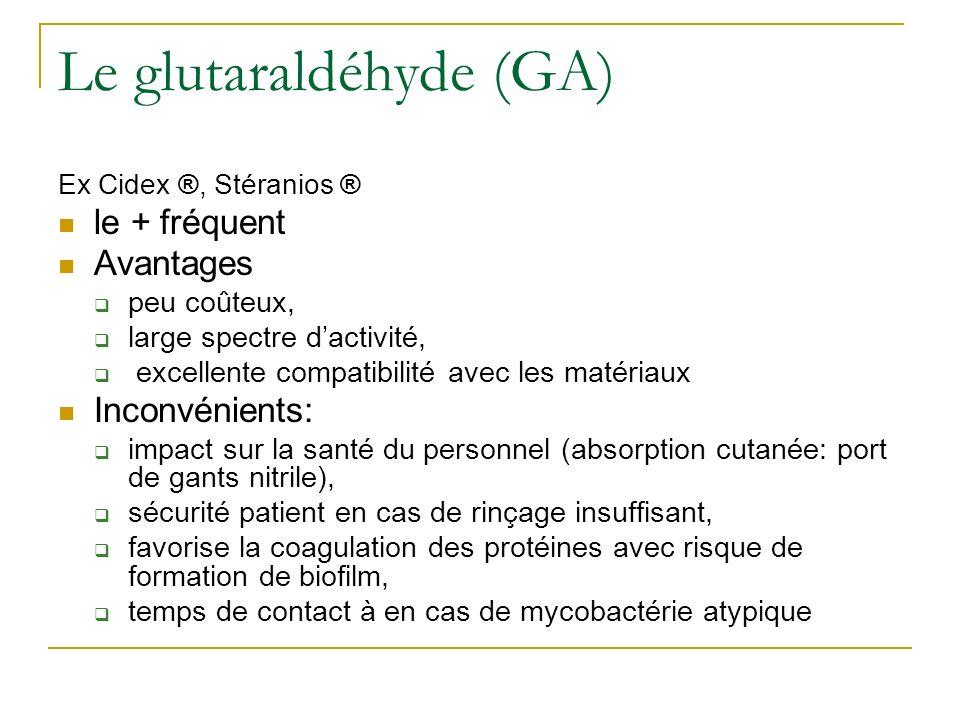 Le glutaraldéhyde (GA)