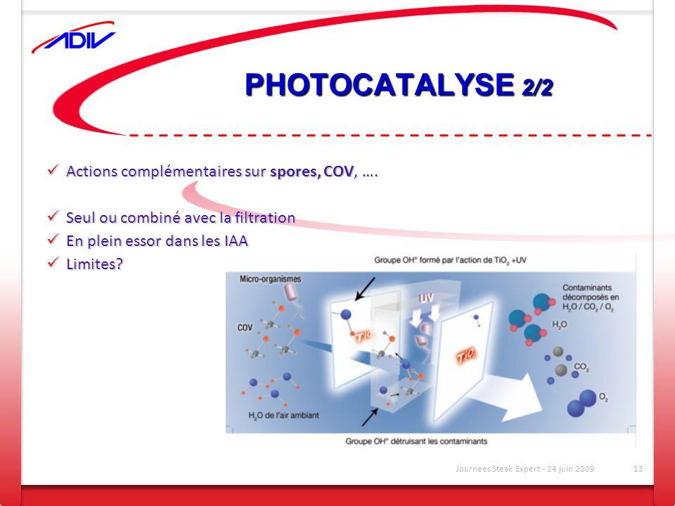 PHOTOCATALYSE 2/2 Actions complémentaires sur spores, COV, ….