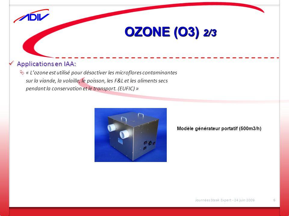 OZONE (O3) 2/3 Applications en IAA: