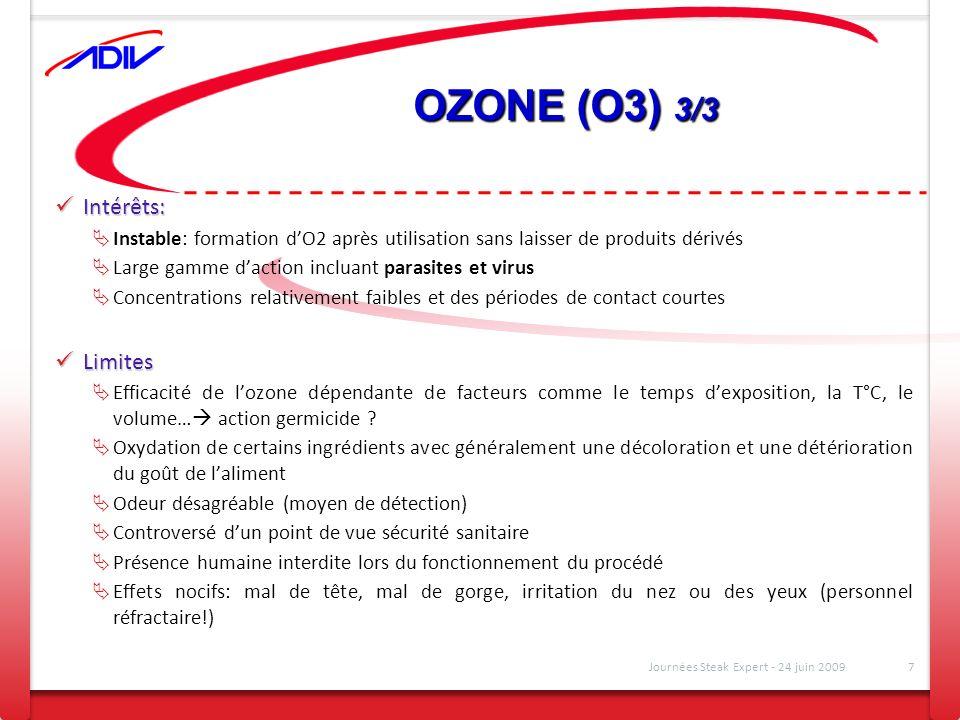 OZONE (O3) 3/3 Intérêts: Limites