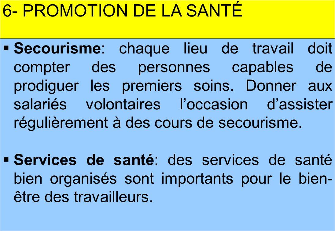 6- PROMOTION DE LA SANTÉ