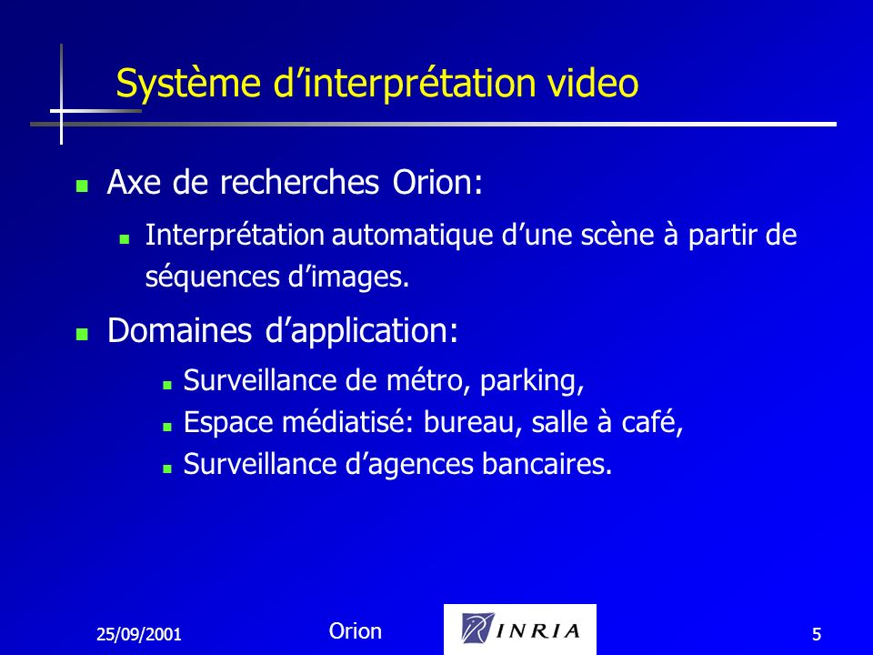 Système d'interprétation video