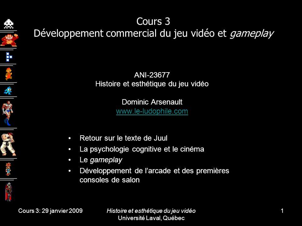 Cours 3 Développement commercial du jeu vidéo et gameplay