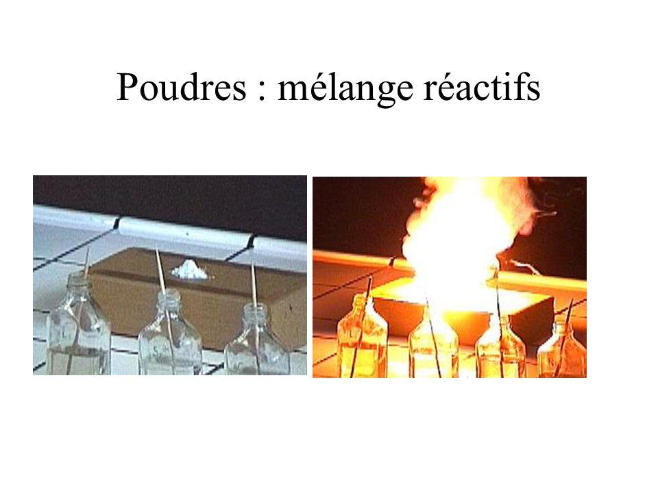 Poudres : mélange réactifs