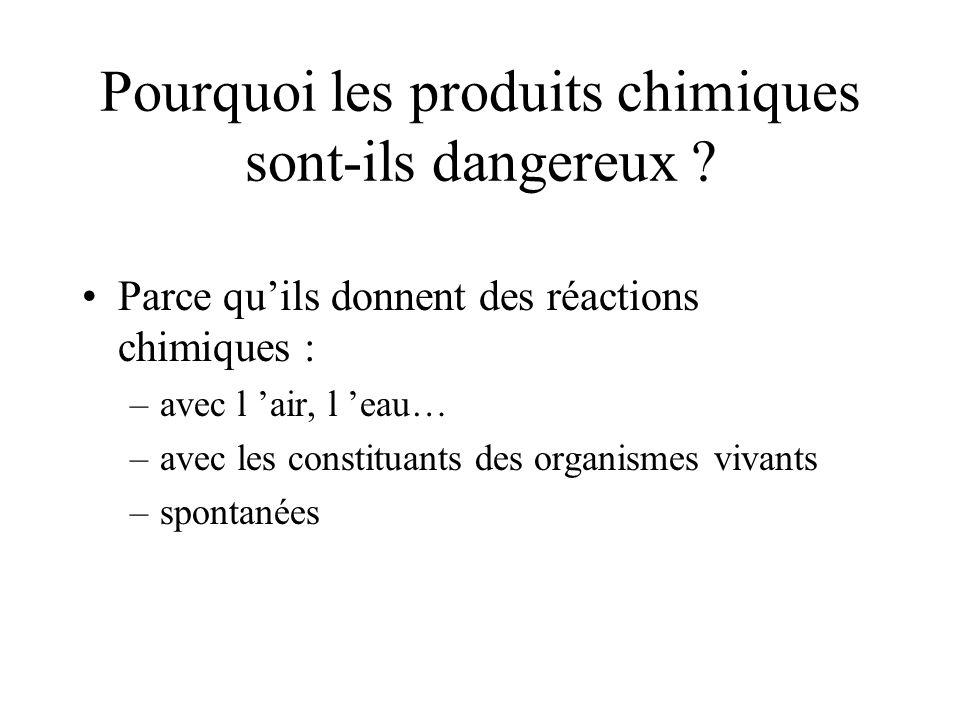 Pourquoi les produits chimiques sont-ils dangereux