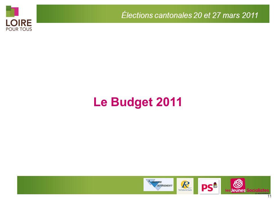 Élections cantonales 20 et 27 mars 2011