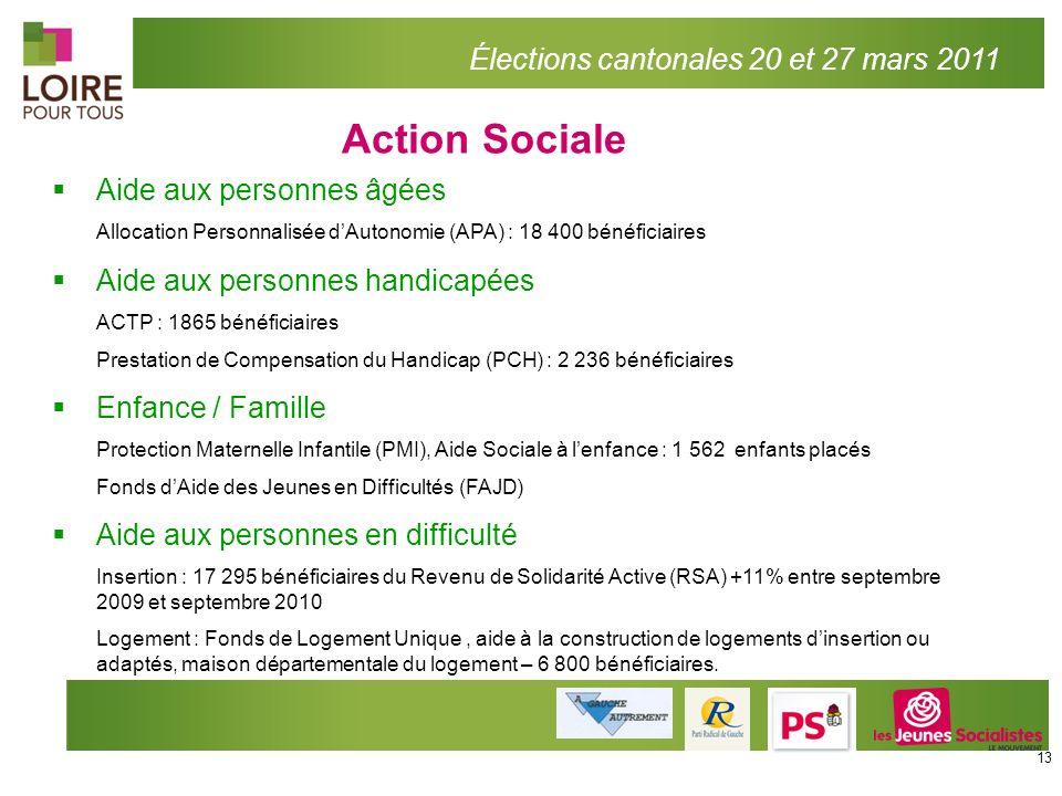 Action Sociale Élections cantonales 20 et 27 mars 2011