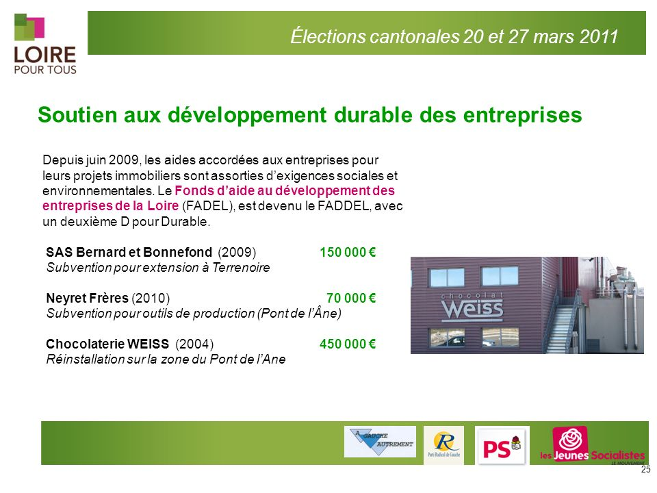 Soutien aux développement durable des entreprises