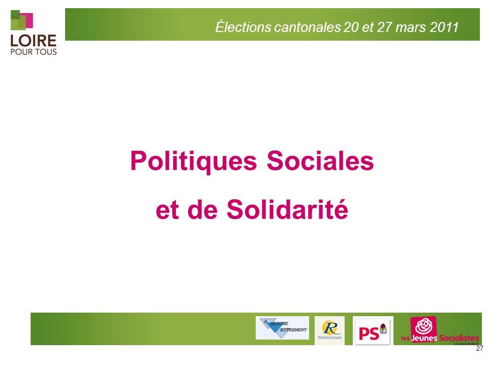 Politiques Sociales et de Solidarité