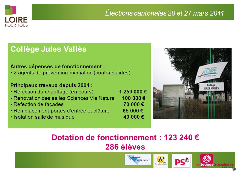 Dotation de fonctionnement : 123 240 €