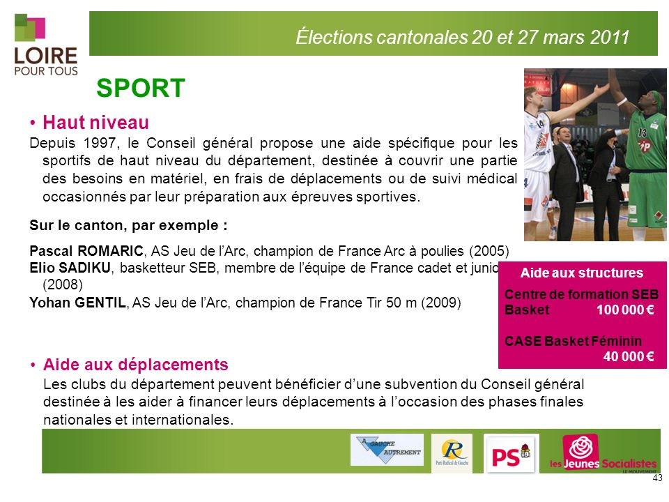 SPORT Élections cantonales 20 et 27 mars 2011 300 associations