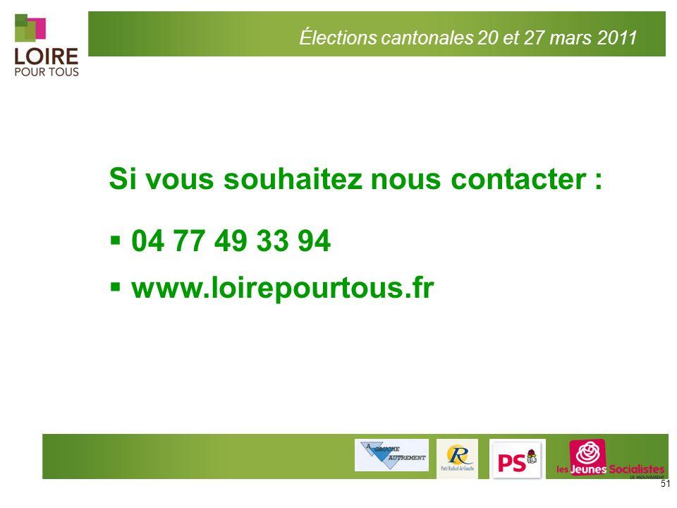 Si vous souhaitez nous contacter : 04 77 49 33 94 www.loirepourtous.fr