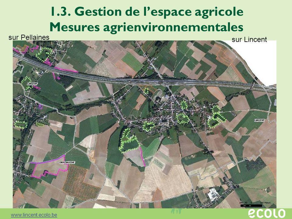 1.3. Gestion de l'espace agricole Mesures agrienvironnementales