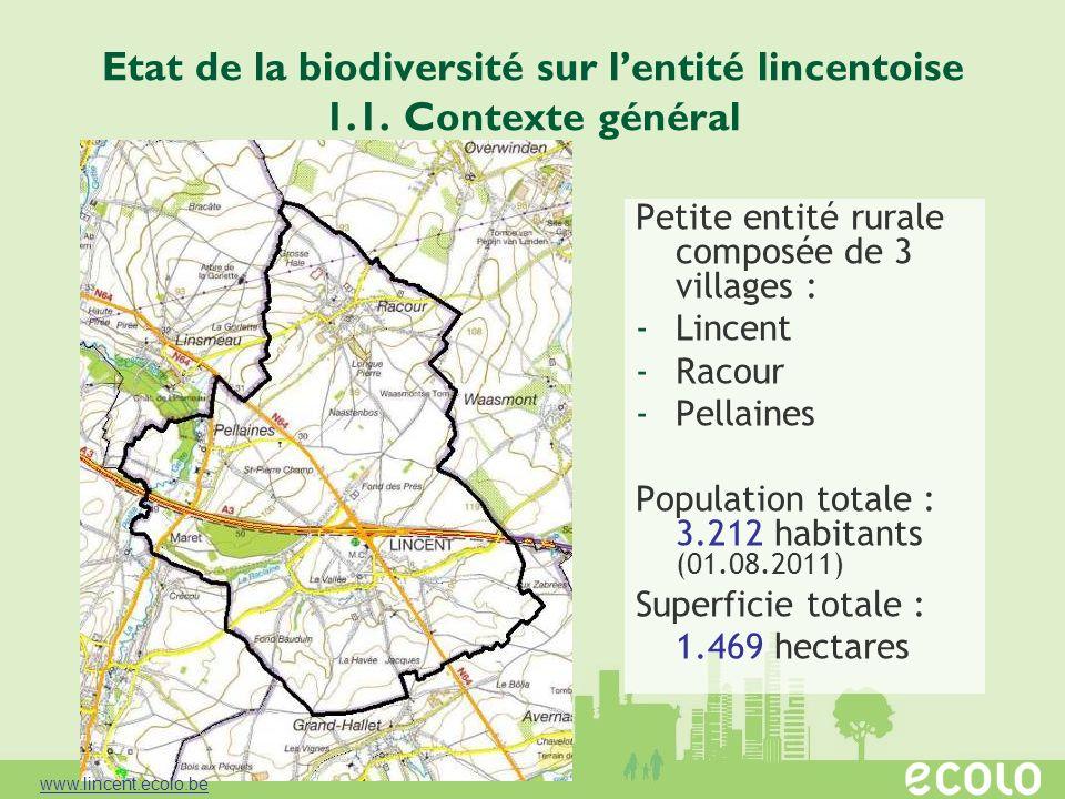 Etat de la biodiversité sur l'entité lincentoise 1.1. Contexte général