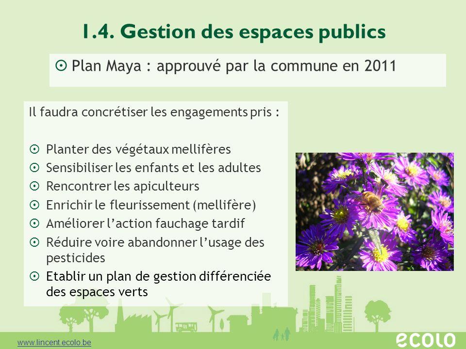1.4. Gestion des espaces publics