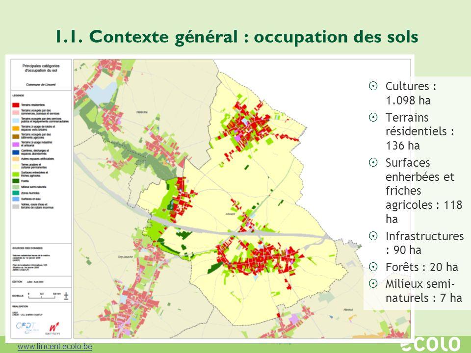 1.1. Contexte général : occupation des sols