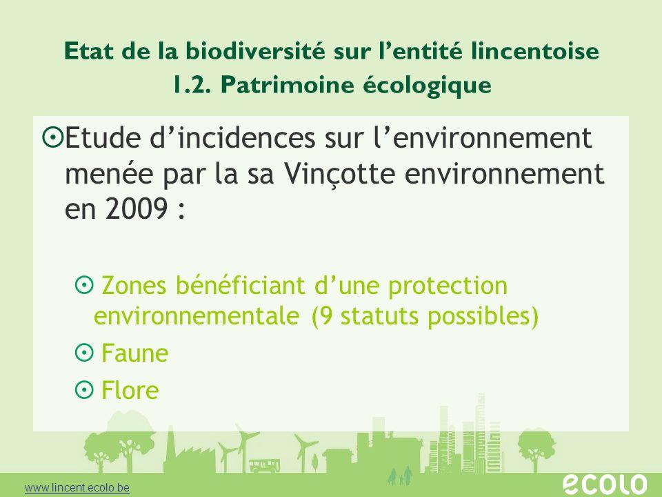 Etat de la biodiversité sur l'entité lincentoise 1. 2