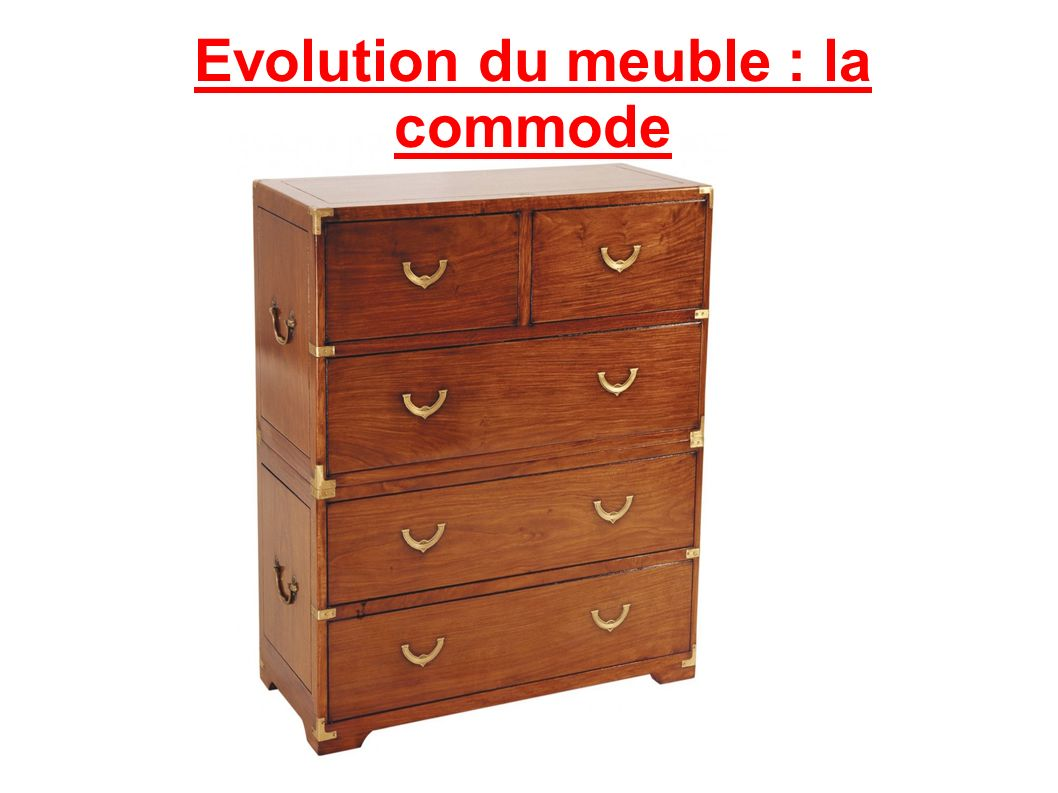 Evolution du meuble : la commode