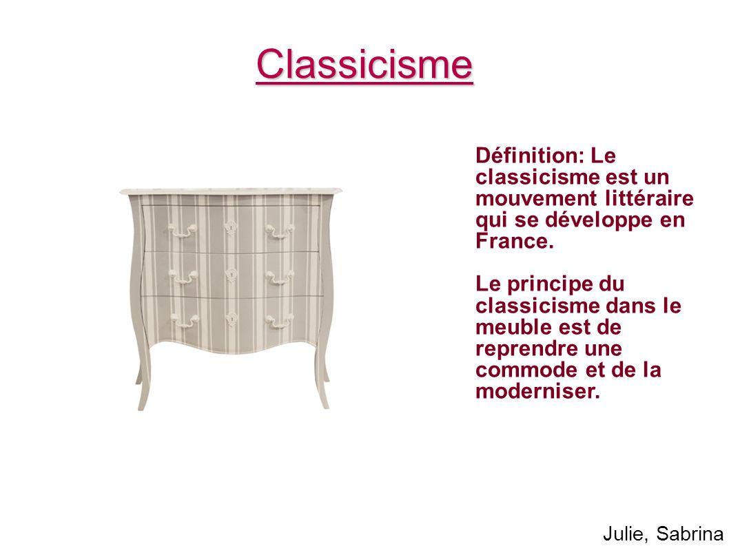 Classicisme Définition: Le classicisme est un mouvement littéraire qui se développe en France.