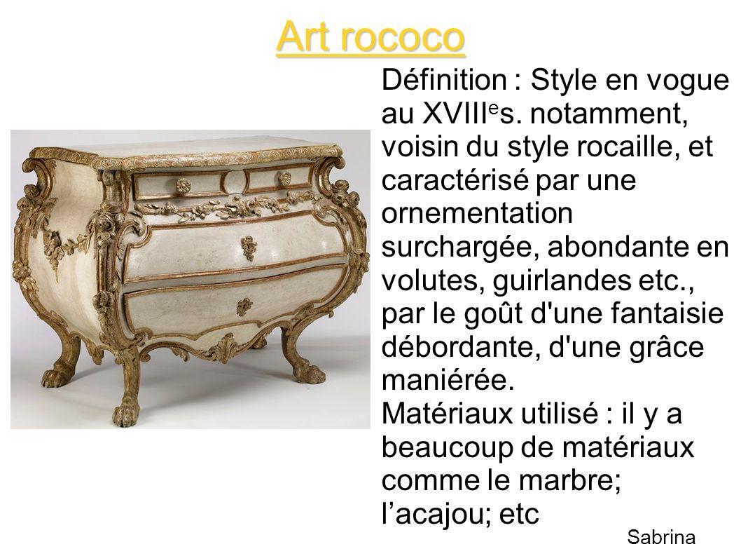 Art rococo