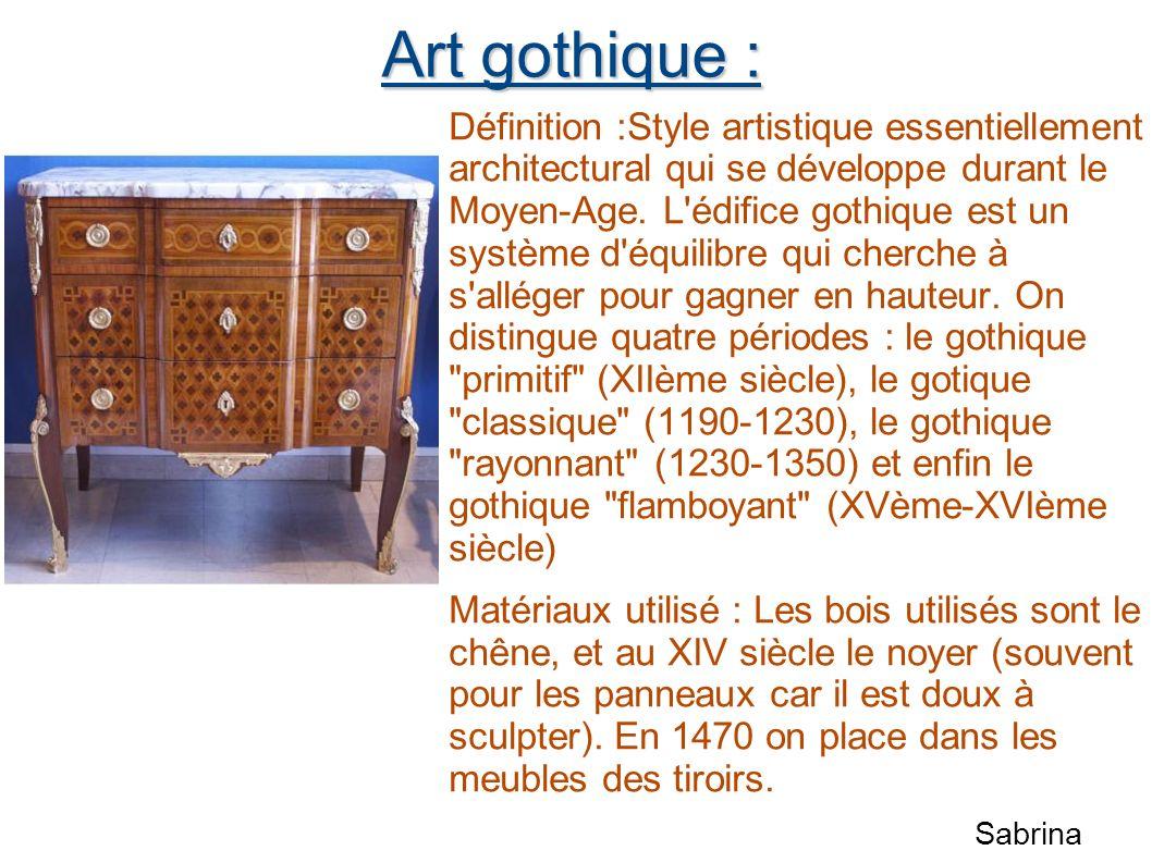 Art gothique :