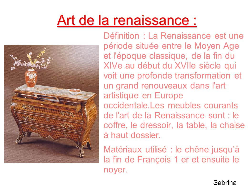 Art de la renaissance :