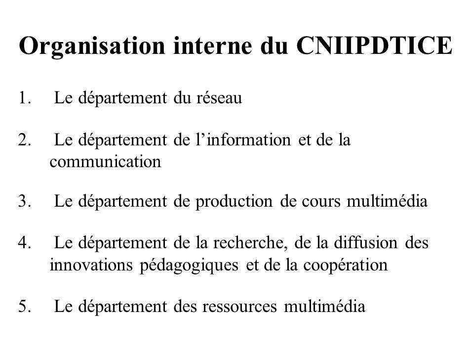 Organisation interne du CNIIPDTICE