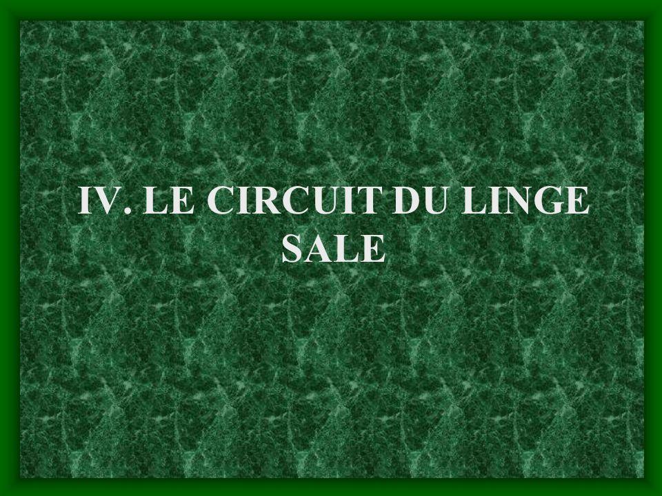 IV. LE CIRCUIT DU LINGE SALE