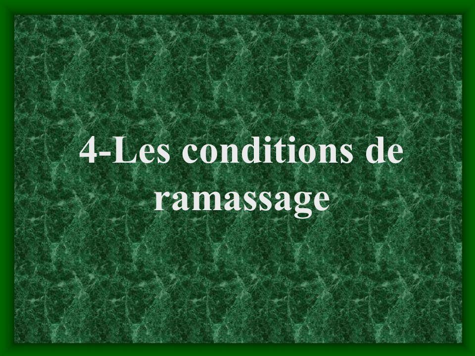 4-Les conditions de ramassage