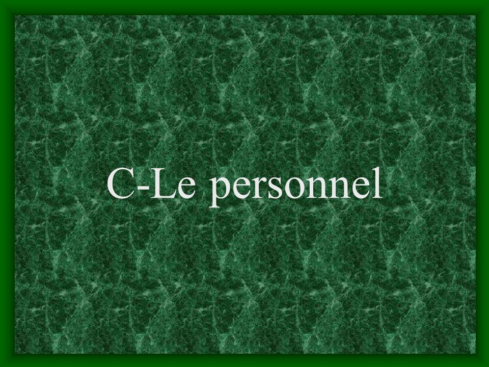 C-Le personnel