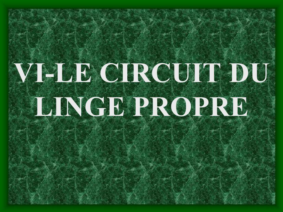 VI-LE CIRCUIT DU LINGE PROPRE