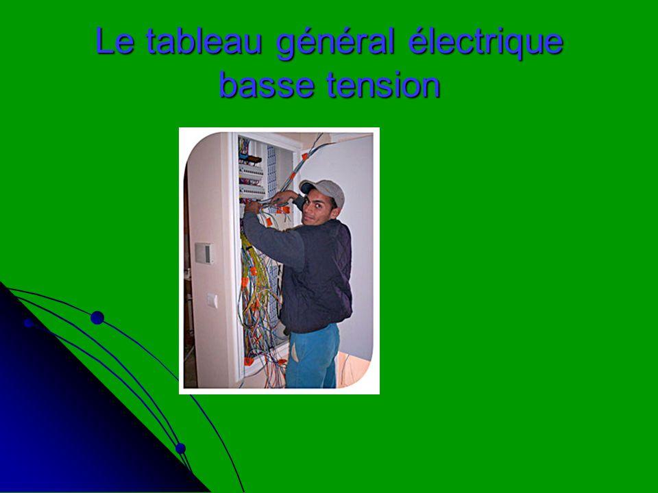 Le tableau général électrique basse tension