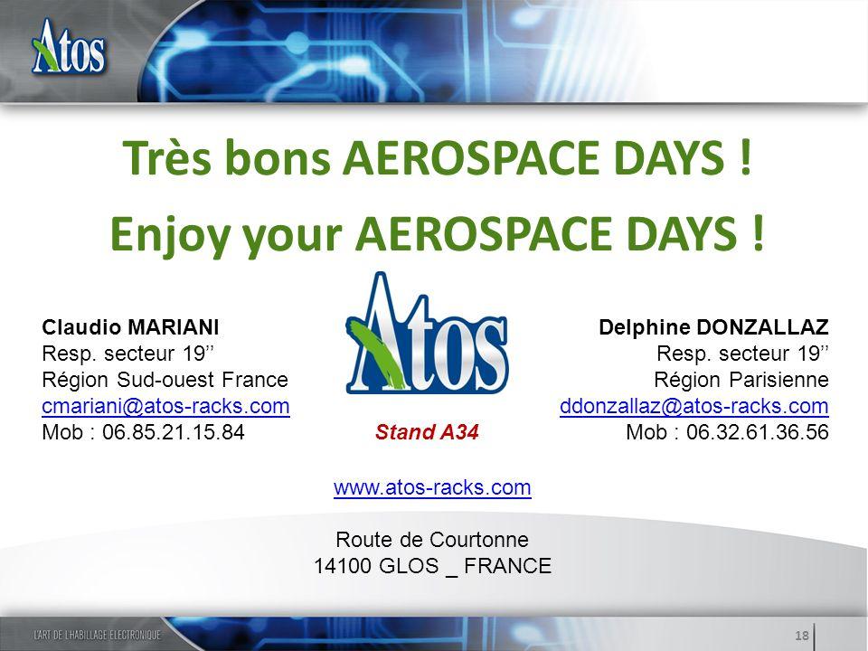 Très bons AEROSPACE DAYS ! Enjoy your AEROSPACE DAYS !