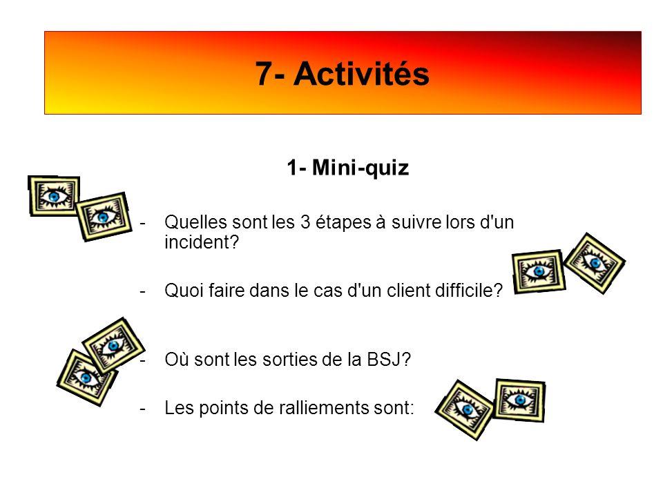 7- Activités 1- Mini-quiz