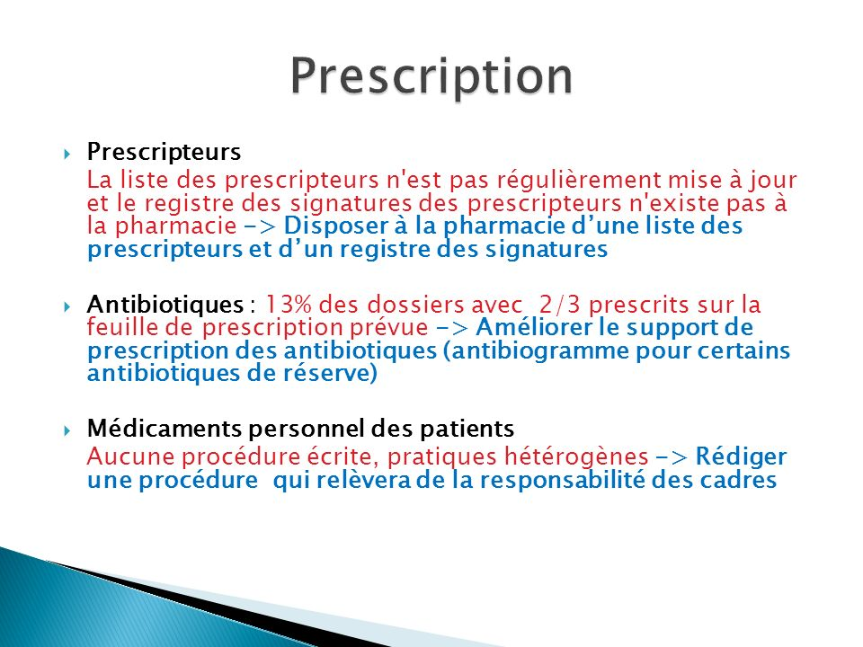 Prescription Prescripteurs