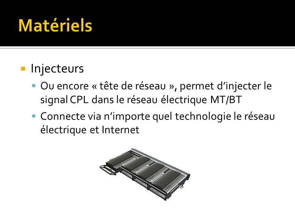 Matériels Injecteurs. Ou encore « tête de réseau », permet d'injecter le signal CPL dans le réseau électrique MT/BT.