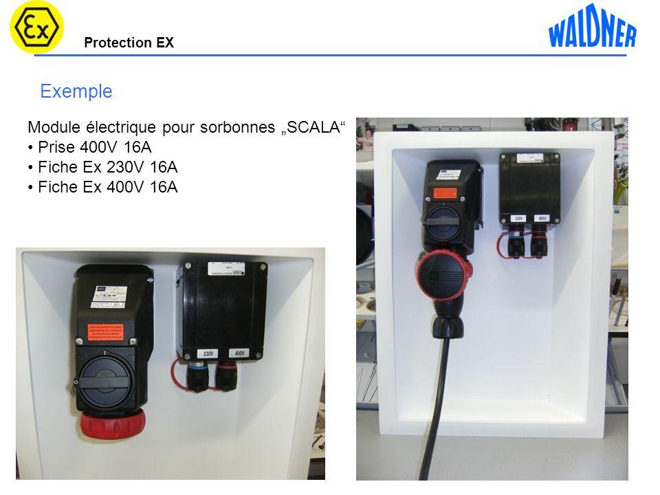 """Exemple Module électrique pour sorbonnes """"SCALA Prise 400V 16A"""