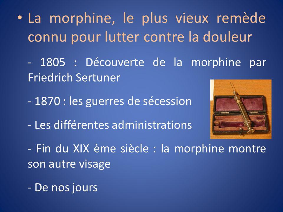 La morphine, le plus vieux remède connu pour lutter contre la douleur