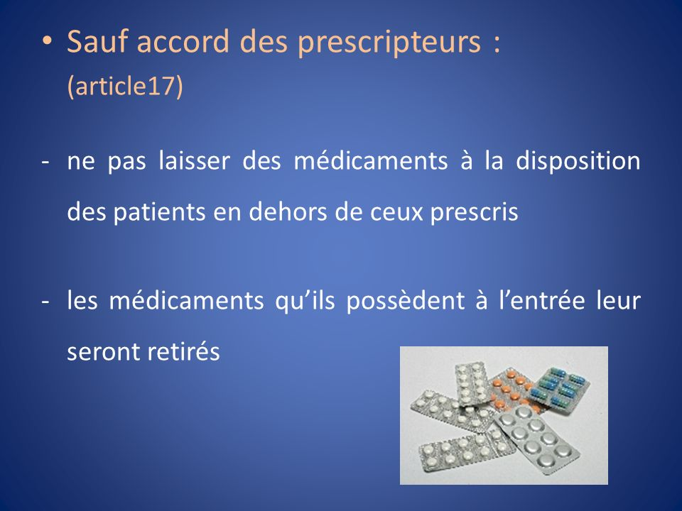 Sauf accord des prescripteurs :