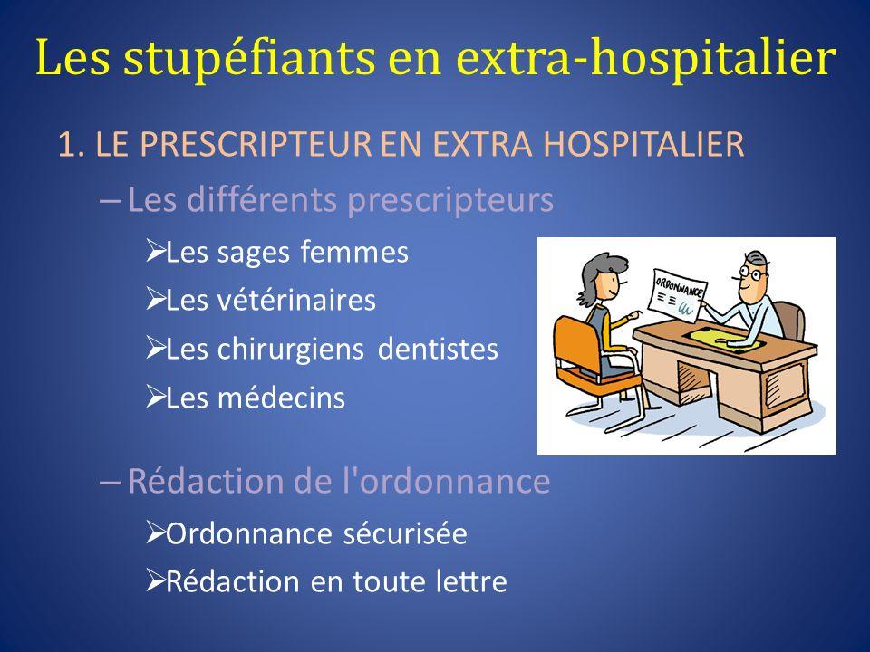 Les stupéfiants en extra-hospitalier