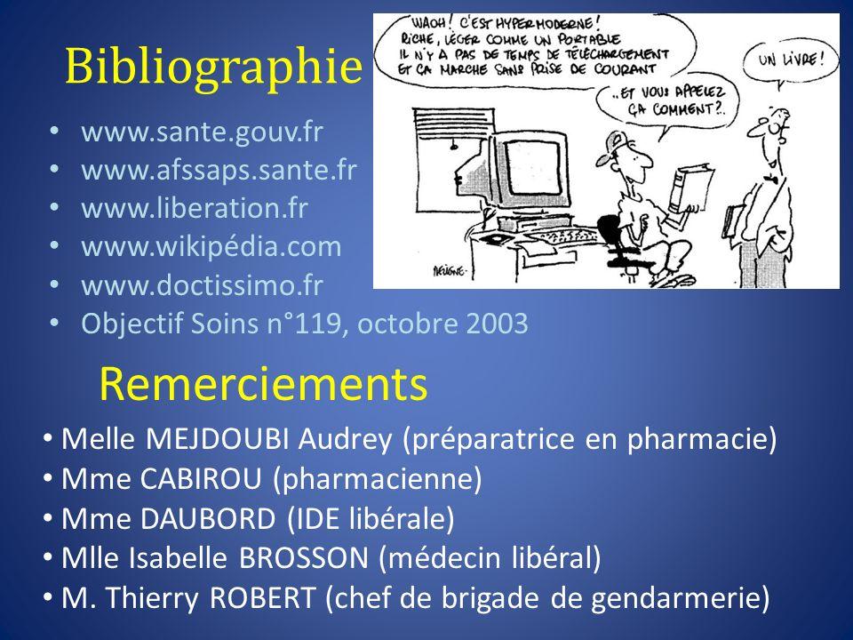 Bibliographie Remerciements