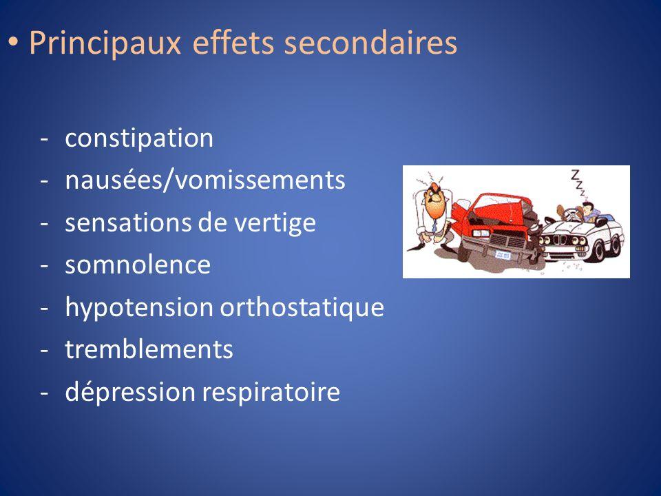 Principaux effets secondaires