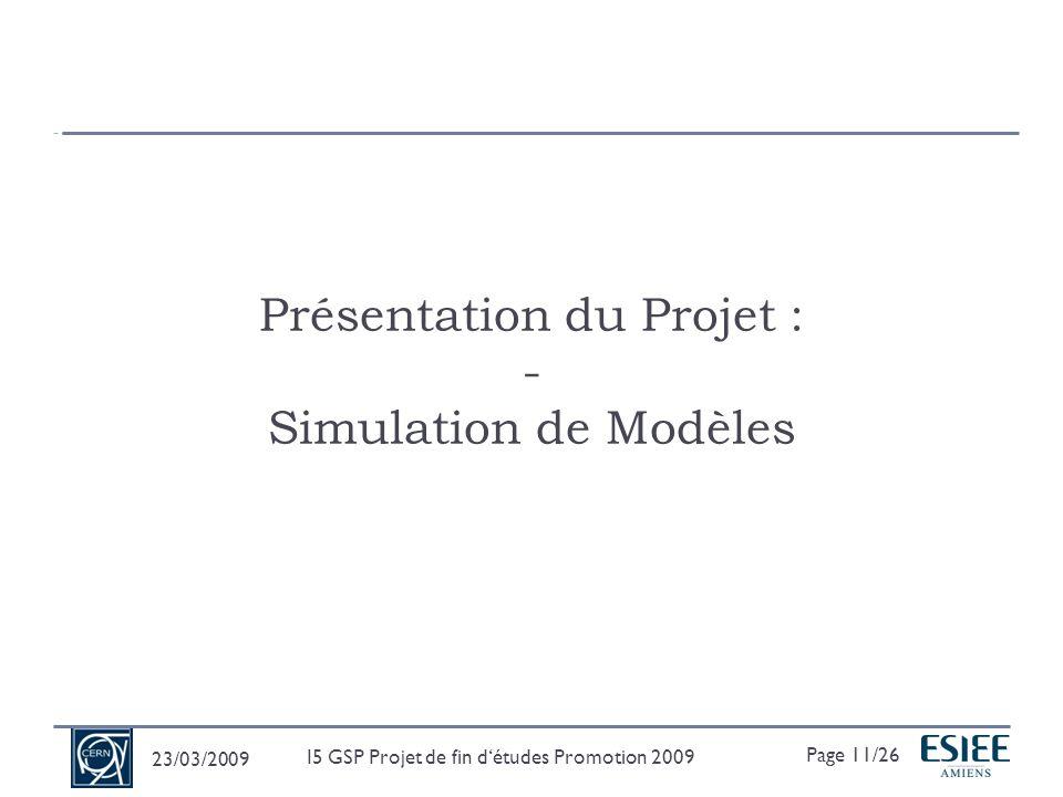 Présentation du Projet : - Simulation de Modèles