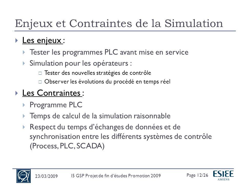 Enjeux et Contraintes de la Simulation