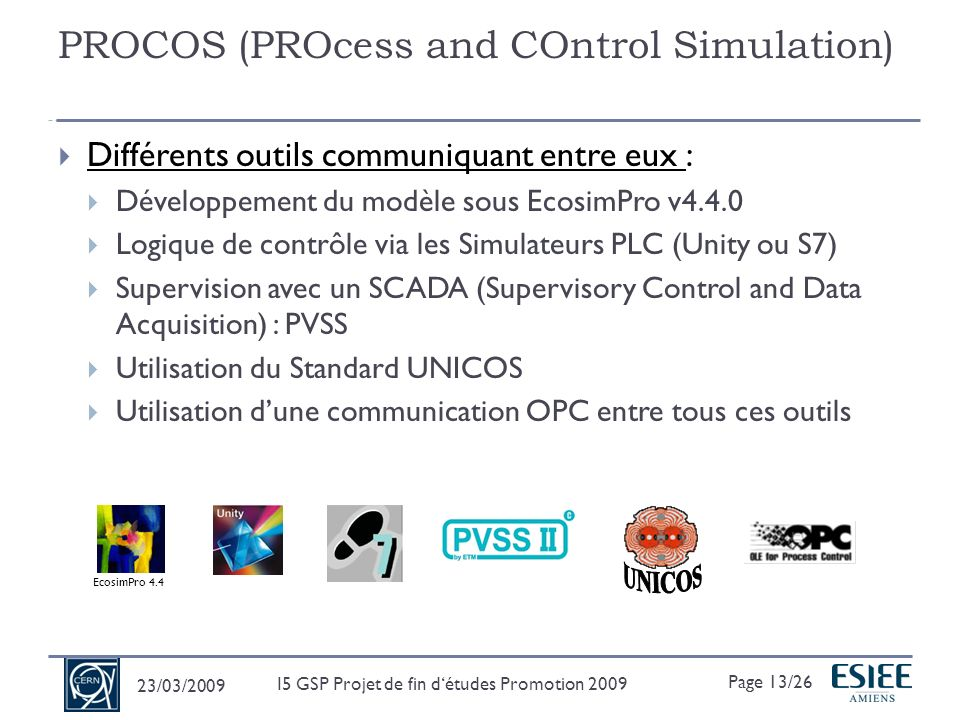 PROCOS (PROcess and COntrol Simulation)
