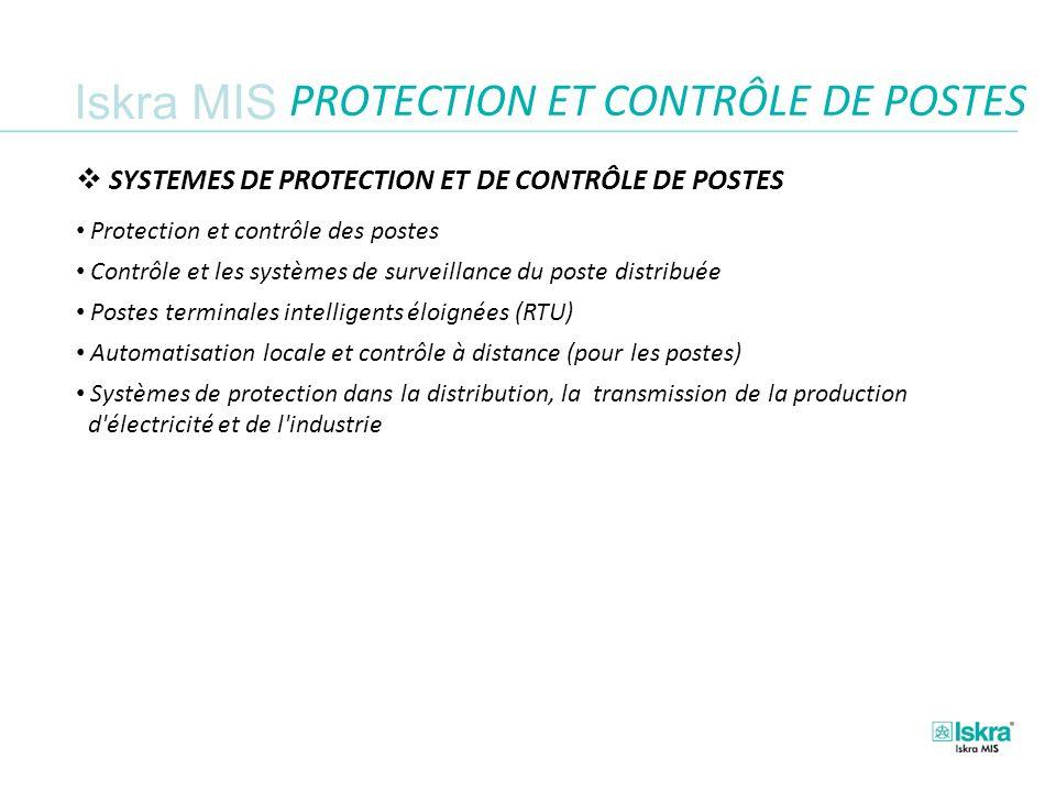 PROTECTION ET CONTRÔLE DE POSTES
