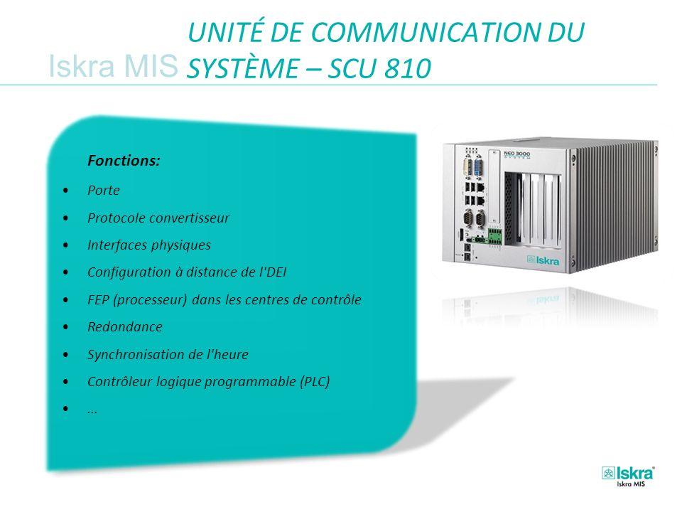UNITÉ DE COMMUNICATION DU SYSTÈME – SCU 810