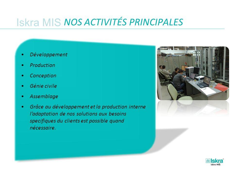 NOS ACTIVITÉS PRINCIPALES