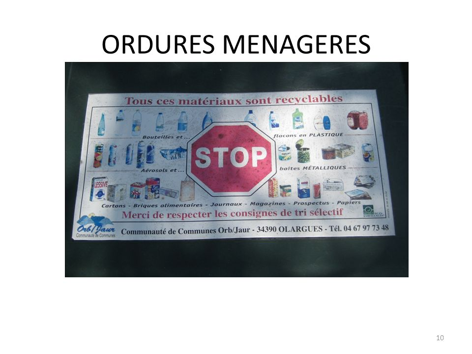 ORDURES MENAGERES
